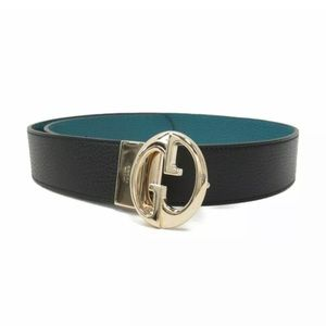 🖤NEW GUCCI TURQUOISE BLACK REVERSIBLE WOMEN BELT